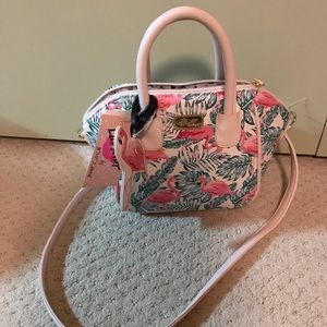 Flamingo pink Satchel from Betsey Johnson new